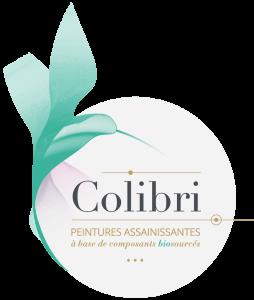 Logo colibri peinture spécialiste de la peinture biosourcée partenaire loto ecole marssac