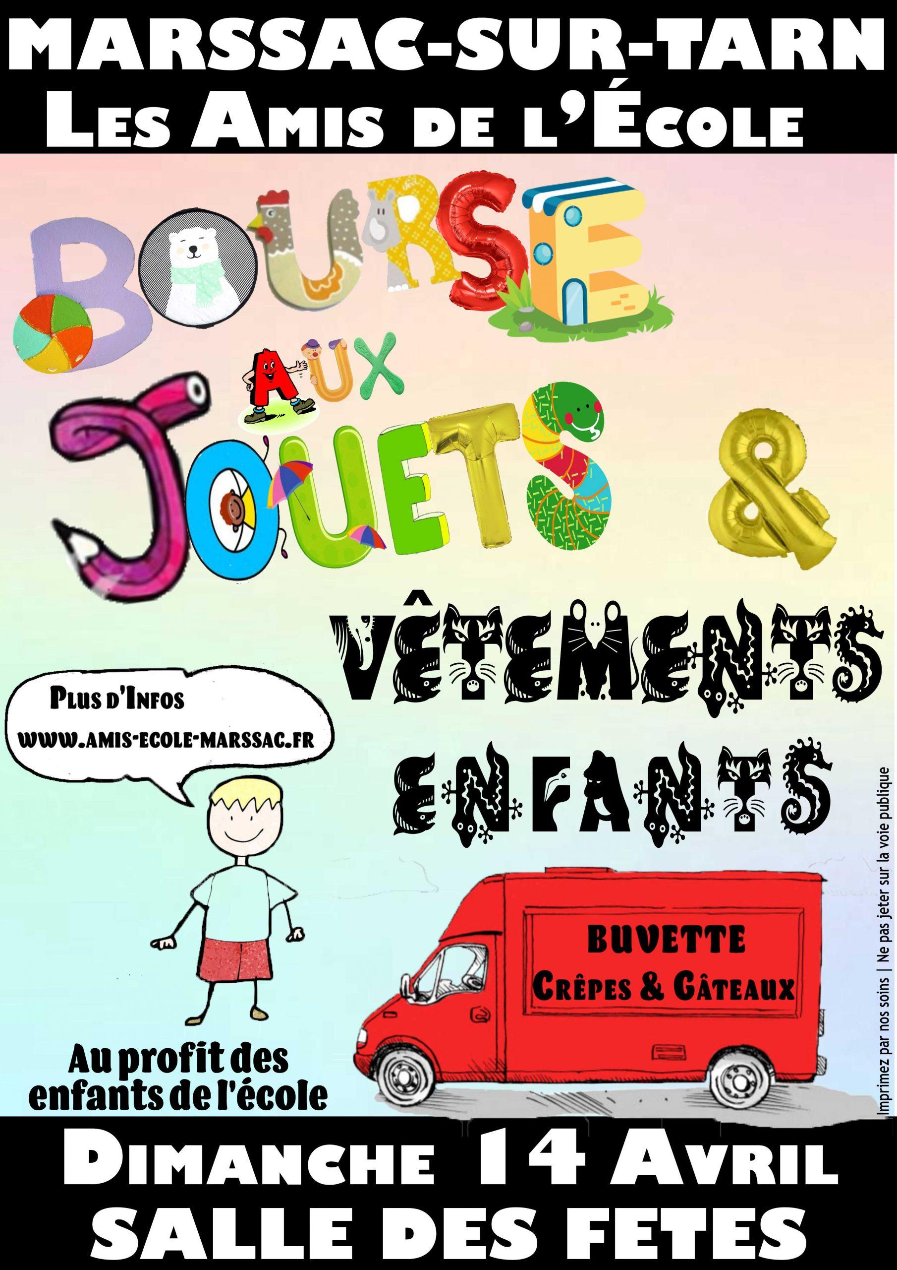 Read more about the article Bourse aux Jouets et Vêtements 14 Avril 2019