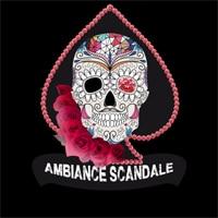 Logo Ambiance Scandale partenaire loto de l'Ecole